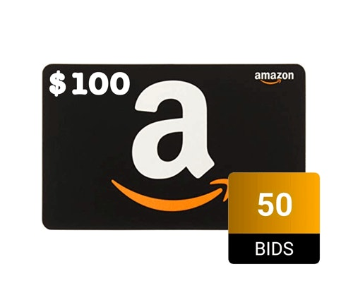 Amazon gift card auctioned during the DealDash Christmas countdown