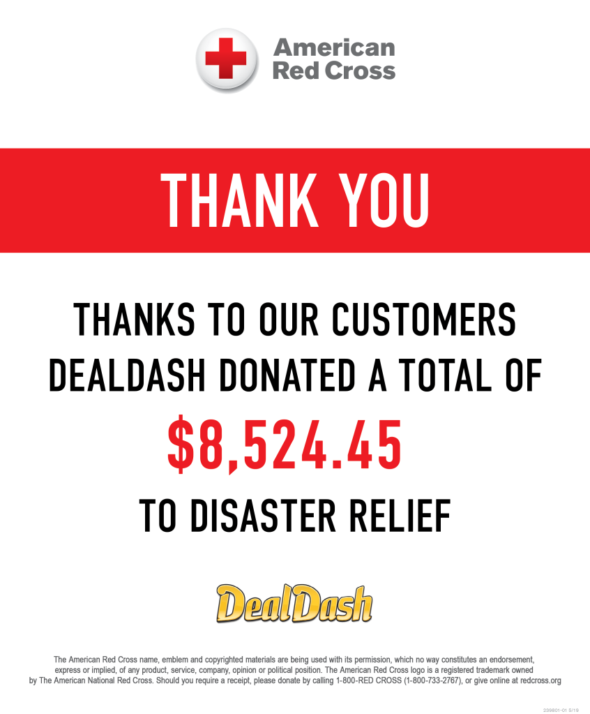 DealDash 8524.45 USD donation to The American Red Cross