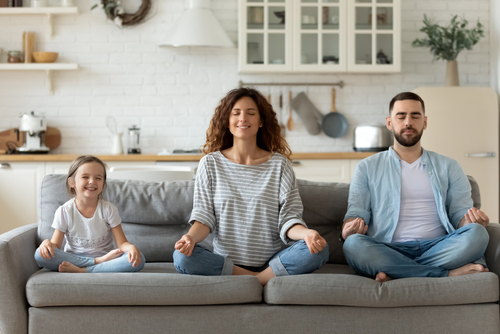 yoga with family when bored on the internet