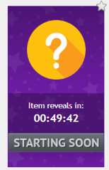 A DealDash Mystery Auction that begins in 49 minutes. The item is not revealed until just before it begins.