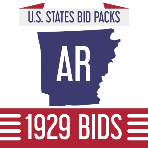 A DealDash State Bick Pack for Arkansas shows the outline of the state and comes with a