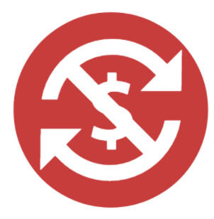 A red icon indicating than an auction is a no-exchange auction.