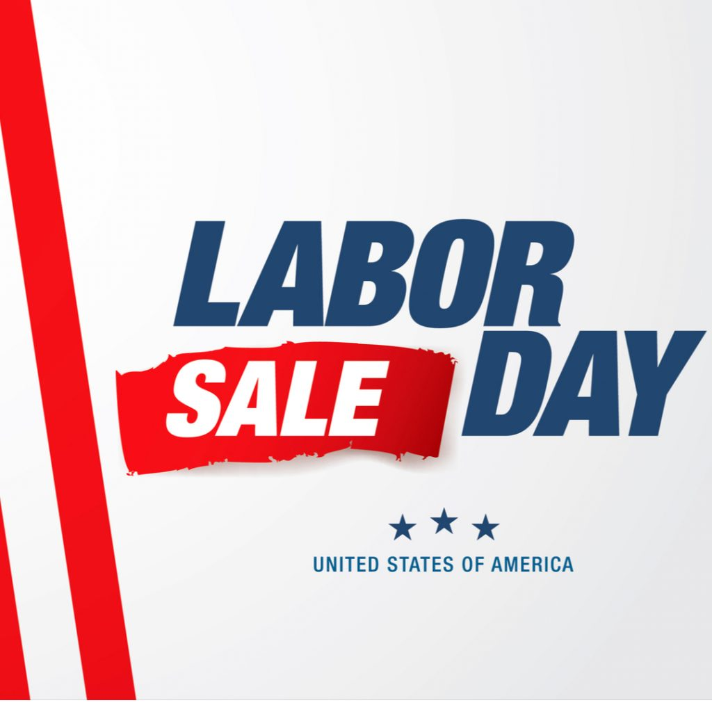 A promotional banner advertises one of the classic American retail traditions: a Labor Day Sale